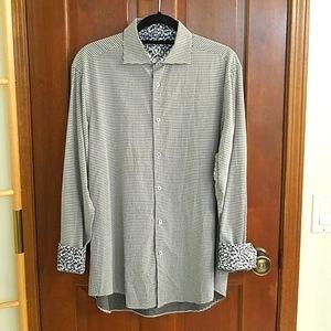 Bugatchi Uomo multi pattern dress shirt